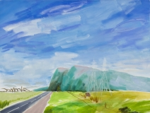 Le Mt St-Hilaire vu de St-Basile