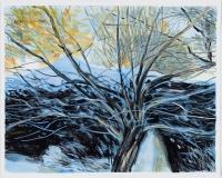 Bleu sur neige, étude #5