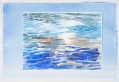 Eau et ciel, lac Pinatel #2